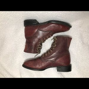 🔴ARIAT LACE UP BOOTS 🥾 SIZE 10.5D, BROWN, USED